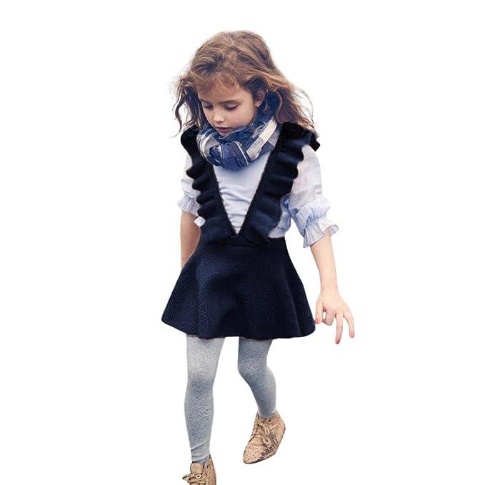 quality design eff9a 7452f Amlaiworld Baby Kleid Mädchen Niedlich Stricken Band Kleider Mode Kleinkind  bunt warm röcke,1-6 Jahren