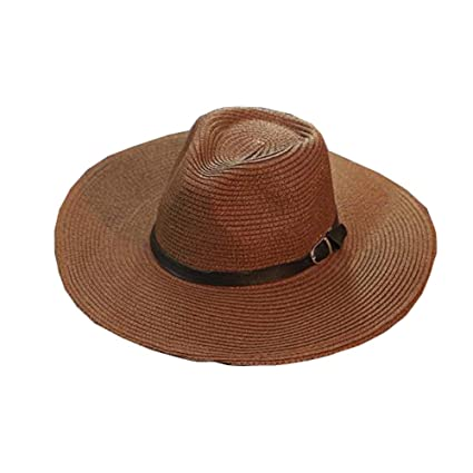 76347535da5fcf Amazon.com: DRAGON SONIC Beach Hat Foldable Straw Hat Cowboy Breathable Hat  Men's Hats: Sports & Outdoors