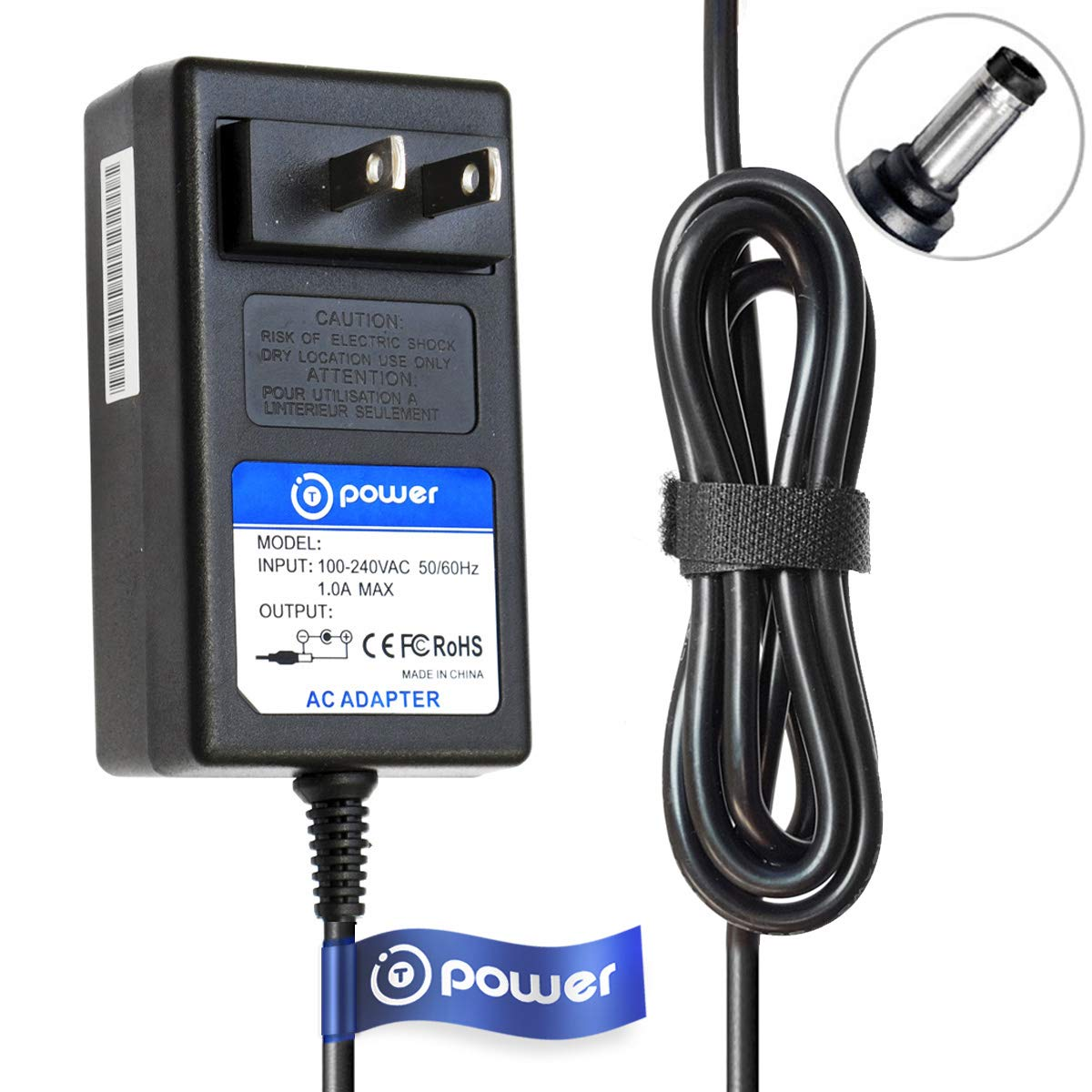 T POWER Ac Dc Adapter Charger Compatible with for ECOVACS DEEBOT N79 N79S Robotic Vacuum Cleaner DN622-DN79 Power Supply Cord