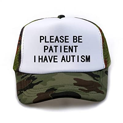 Please Be Patient I Have Autism Mesh Net Trucker Cap