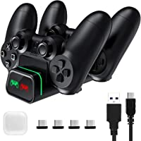 PICTEK PS4 Controller Charger and Holder, USB Fast Charging Station Dock Stand with LED Indicator and Overcharging Protection for Playstation4/PS4/PS4 Slim/PS4 Pro Controller