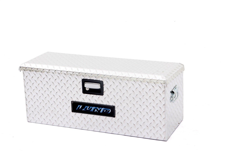 Lund 288271A 32-Inch Aluminum ATV Storage Box, Diamond Plated, Silver