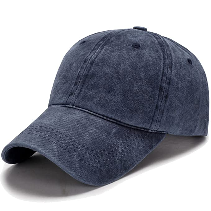 0a03429aa8a Dream Amy Hat Unisex Stone Washed Cotton Baseball Cap Adjustable Size (Blue)   Amazon.ca  Clothing   Accessories
