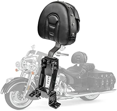 Roadmaster Chief Dark Horse Chief Vintage Chieftain Springfield Models 2014-2018 Plug In Driver Backrest Pad Rider Sissy Bar Back Rest With Pocket For Indian Chief Classic Black/&Black