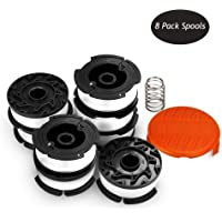 9 Pack String Trimmer Replacement Spool Weed Eater Cap Auto Feed Trimmer String AF-100 0.065-inch 30ft for Black and Decker String Trimmers