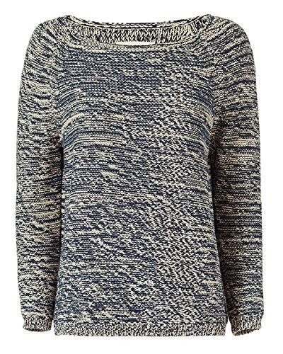 Nili Lotan Women's Brittany Navy Marled Sweater L