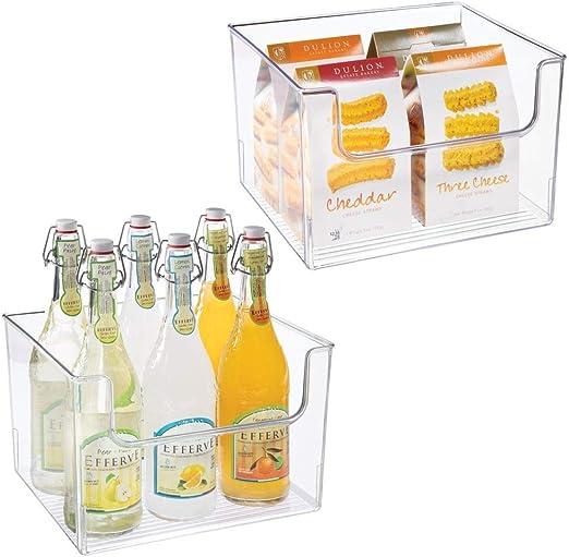 mDesign Juego de 2 cajas de almacenaje de alimentos – Organizador ...