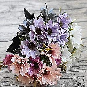 GSD2FF 10heads/1bundle Silk Daisy Bride Bouquet for Christmas Home Wedding Decoration Fake Plants Sunflower Artificial Flowers 108