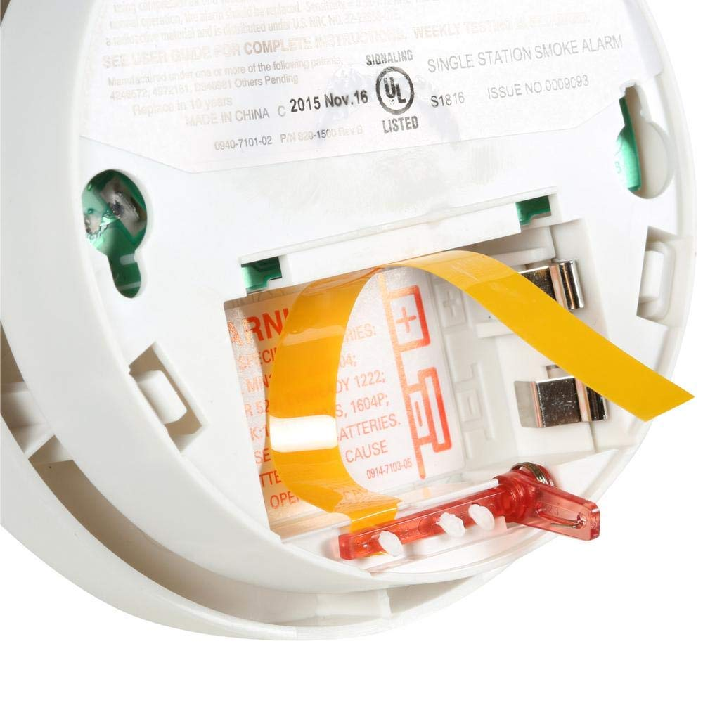 Kidde Battery-Operated UL-Listed Smoke Detector with Alarm - Fire Alarm