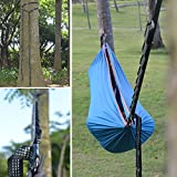 Quality Hammock Straps With Carabiner Hooks & Adjustable Loops Suitable for Camping, Hiking, Backpacking & Mountaineering. Perfect Hammock Tree Straps Set & Suspension System (Set of 2)
