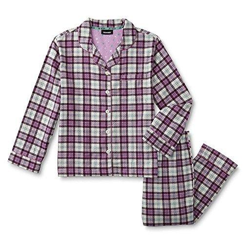 Joe Boxer Women's Plus Size 2-Piece Flannel Pajamas Shirt & Pant Set (Boxer Pants Joe)