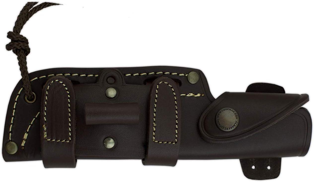 con mango micarta bicolor y funda tarjeta multiusos de regalo actividad deportiva herramienta camping pesca y caza Cuchillo de supervivencia JJSK1 Cudeman 124-B* deportivo hoja de 12 cms