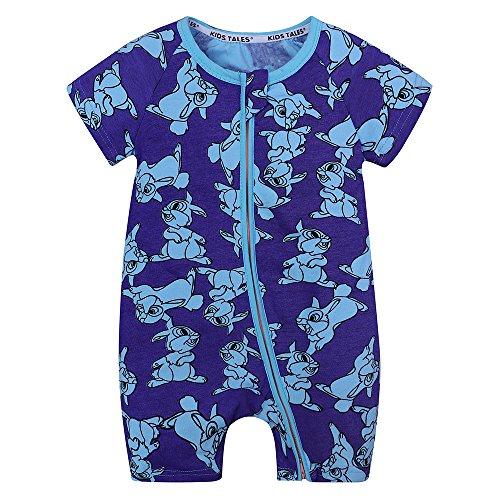 e474db53131a Galleon - Kids Tales Baby Rabbit Printed Short Sleeve Pajama Sleeper ...