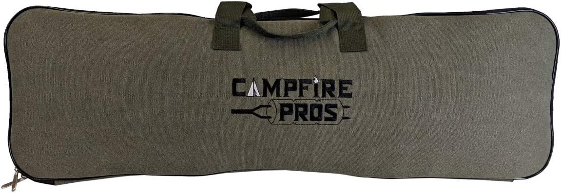 Deluxe Pie Iron Storage Bag, Padded With Straps, Fits Up To 4 Pie Irons. By Campfire Pros.