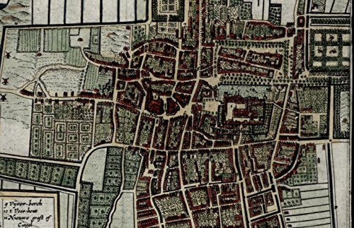 's Graven Den Haag The Hague Netherlands Nederland 1635 Blaeu mini map city - Nederland Haag