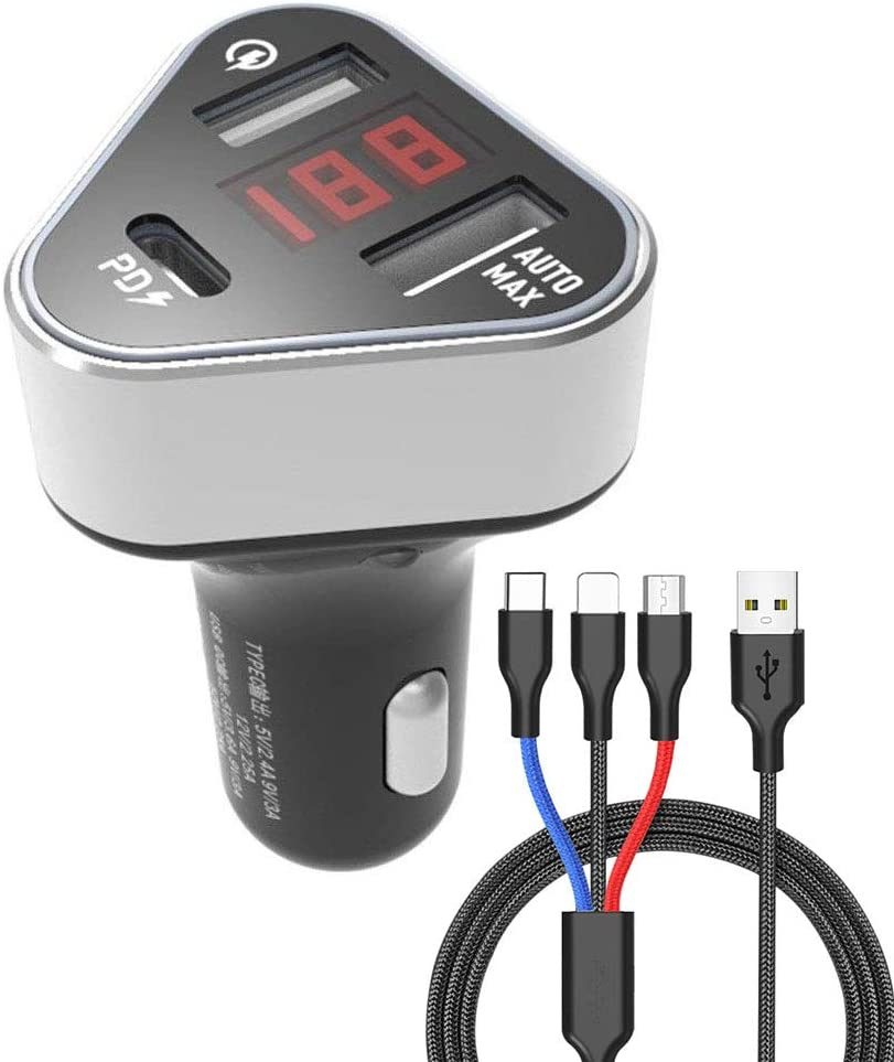 IQ-48 USB Car Charger for Mp3 and Other Compatible Devices-White