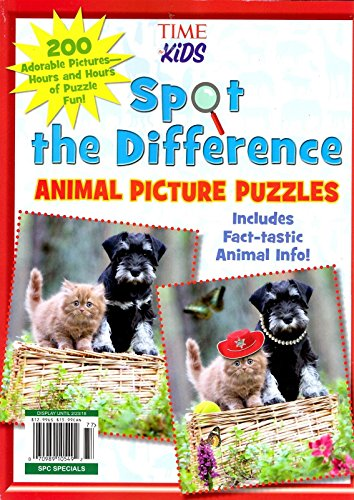 Adorable Puzzle (Spot the Difference Animal Picture Puzzles (A TIME for Kids Book): 200 Adorable Pictures Hours and Hours of Puzzle Fun (Afamncg Store))