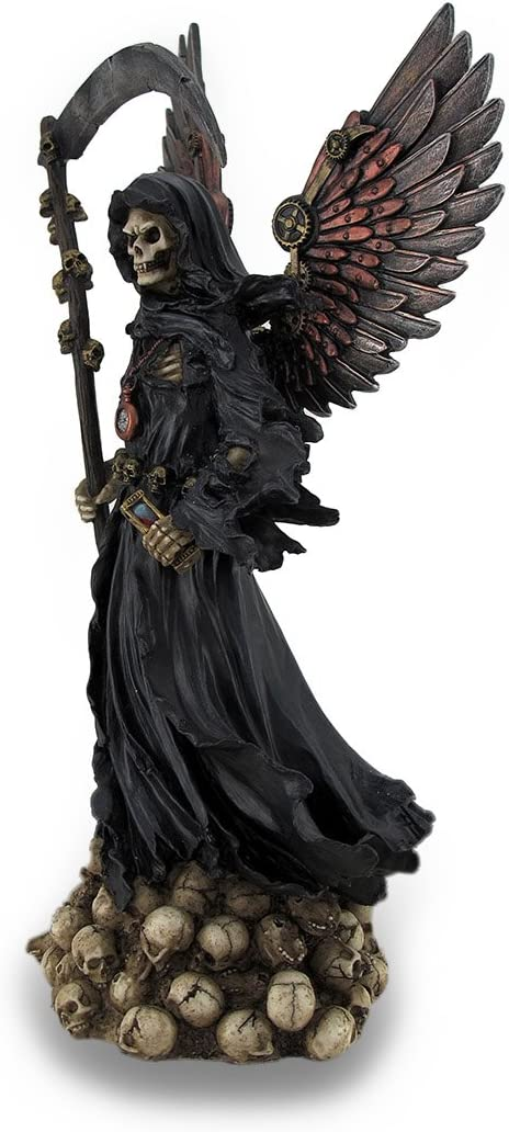 Unicorn Studio WU76441AA Winged Steampunk Grim Reaper, 11-inch Length, Polystone