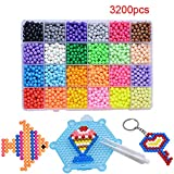 Kaxich Water Fuse Beads Set, 24 Colors 3200pcs Kids Water Sticky Beads Magic DIY Beads Art Crafts Toys for Beginners Complete Set