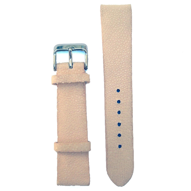 パールピンク16ミリメートルGenuine Stingray腕時計ストラップ  B01IUGHAW6