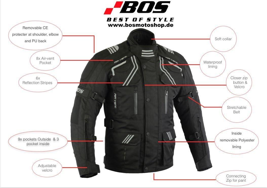 3XL BOS Motorrad Jacke Motorradjacke Tourenjacke