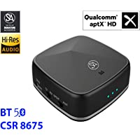Signature Acoustics Phoenix Hi-Fi Bluetooth BT5.0 Audio Receiver & Transmitter with aptX HD, Low Latency, aptX, Qualcomm CSR8675, 3.5mm AUX/Optical/SPDIF/RCA. for Home-Theater, TV, Speakers, Mobiles