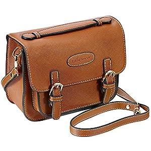 Mini 9 Instant Camera Accessories Case - Lalonovo Retro Vintage PU Leather Bag for Fujifilm Instax Mini 9/ Mini 8/ Mini 7s/ Mini 25/ Mini 50s/ Mini 90/ Instant Film Camera with Shoulder Strap (Brown)