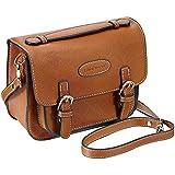 Mini 9 Instant Camera Accessories Case - Lalonovo Retro Vintage PU Leather Bag for Fujifilm Instax Mini 9/Mini 8/Mini 7s/Mini 25/Mini 50s/Mini 90/Instant Film Camera with Shoulder Strap (Brown)