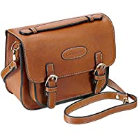 Mini 9 Instant Camera Accessories Case - Lalonovo Retro Vintage PU Leather Bag for Fujifilm Instax Mini 9/ Mini 8/ Mini 7s/ Mini 25/ Mini 50s/ Mini 90/ Instant Film Camera with Shoulder Strap (Brown)