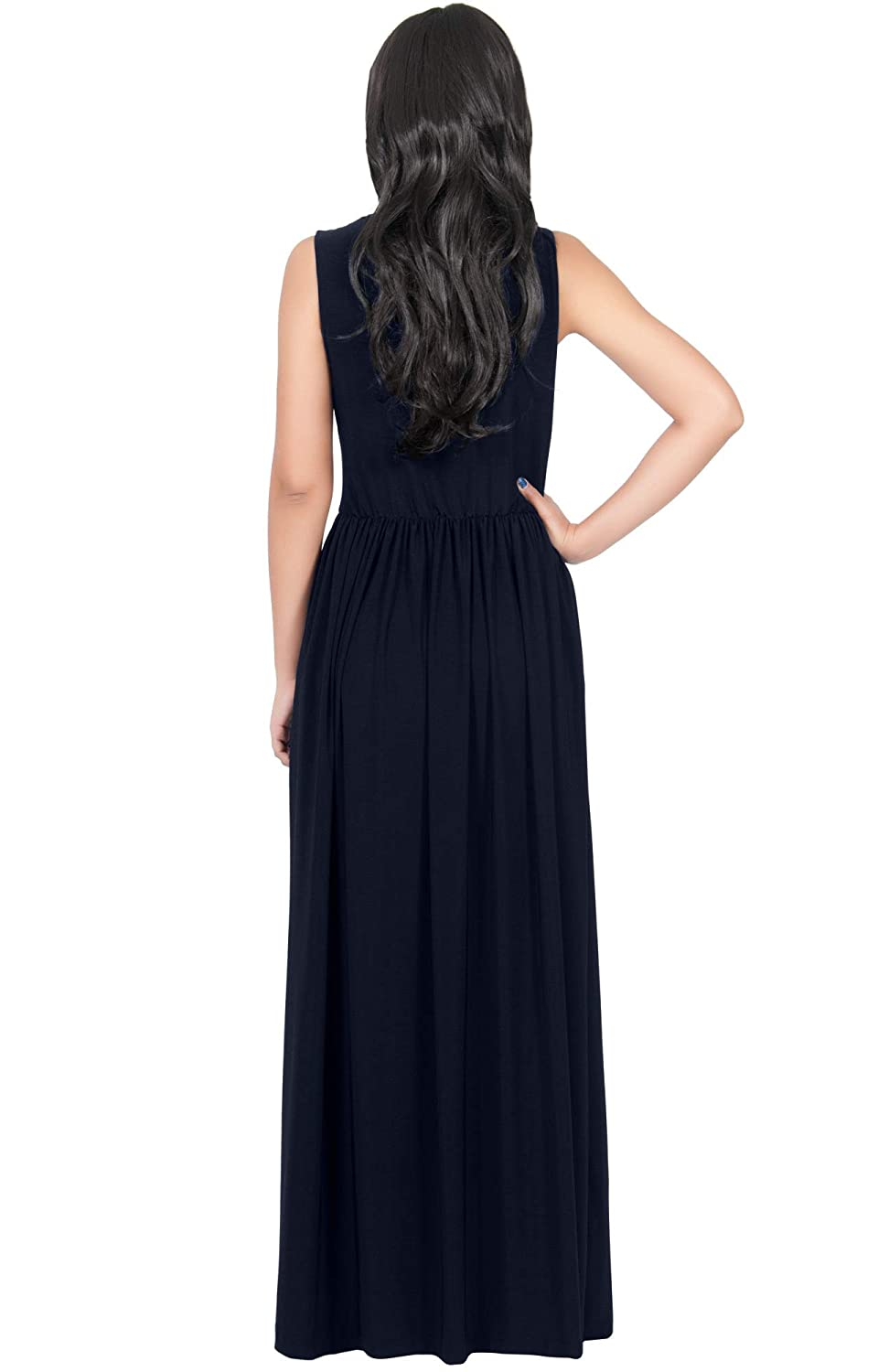 KOH KOH Wrap Designer Sleeveless Evening Party Prom Gown