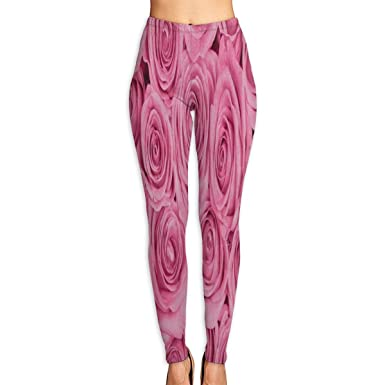 0e845253f11218 Amazon.com: Bei Tang Womens Yoga Pants Valentine's Day Pink Rose Slim Fit  Leggings Fitness Trousers: Clothing