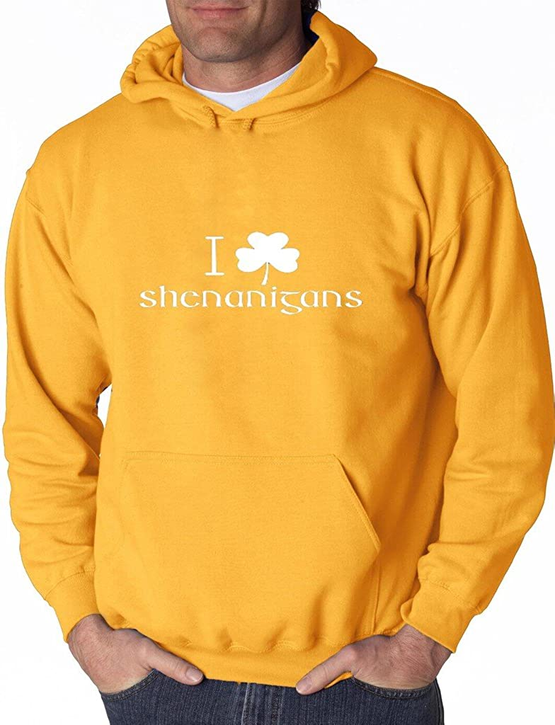 I Clover Shenanigans Funny Hoodie St Patricks Irish Day Sweatshirt