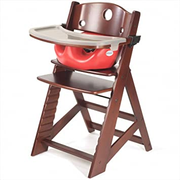 Peachy Keekaroo Height Right High Chair Infant Insert And Tray Combo Mahogany Cherry Lamtechconsult Wood Chair Design Ideas Lamtechconsultcom