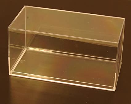 12 Clear Acrylic Display Cases (With No Beveled Edge) For 1