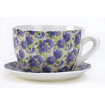 Buy Gifts Decor Lavender Rose Teacup Saucer Flower Pot Herb