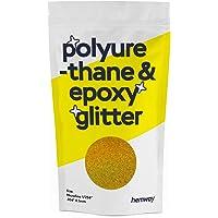 """Hemway   Polyurethaan & Epoxy Hars Glitter - MICROFINE - 1/256"""" 0.1mm - Goud Holografisch/100g"""