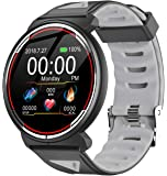 Smart Watch Android iOS Heart Rate Blood Pressure Fitness Tracker IP68 Waterproof Pedometer Step Calorie Counter Sleep Touch Screen Bluetooth Smartwatch for Men Women