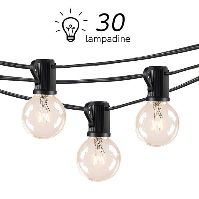33 opinioni per Catena Luminosa Esterno LOFTer Stringa Luci da Giardino con 30 Lampadine Filo