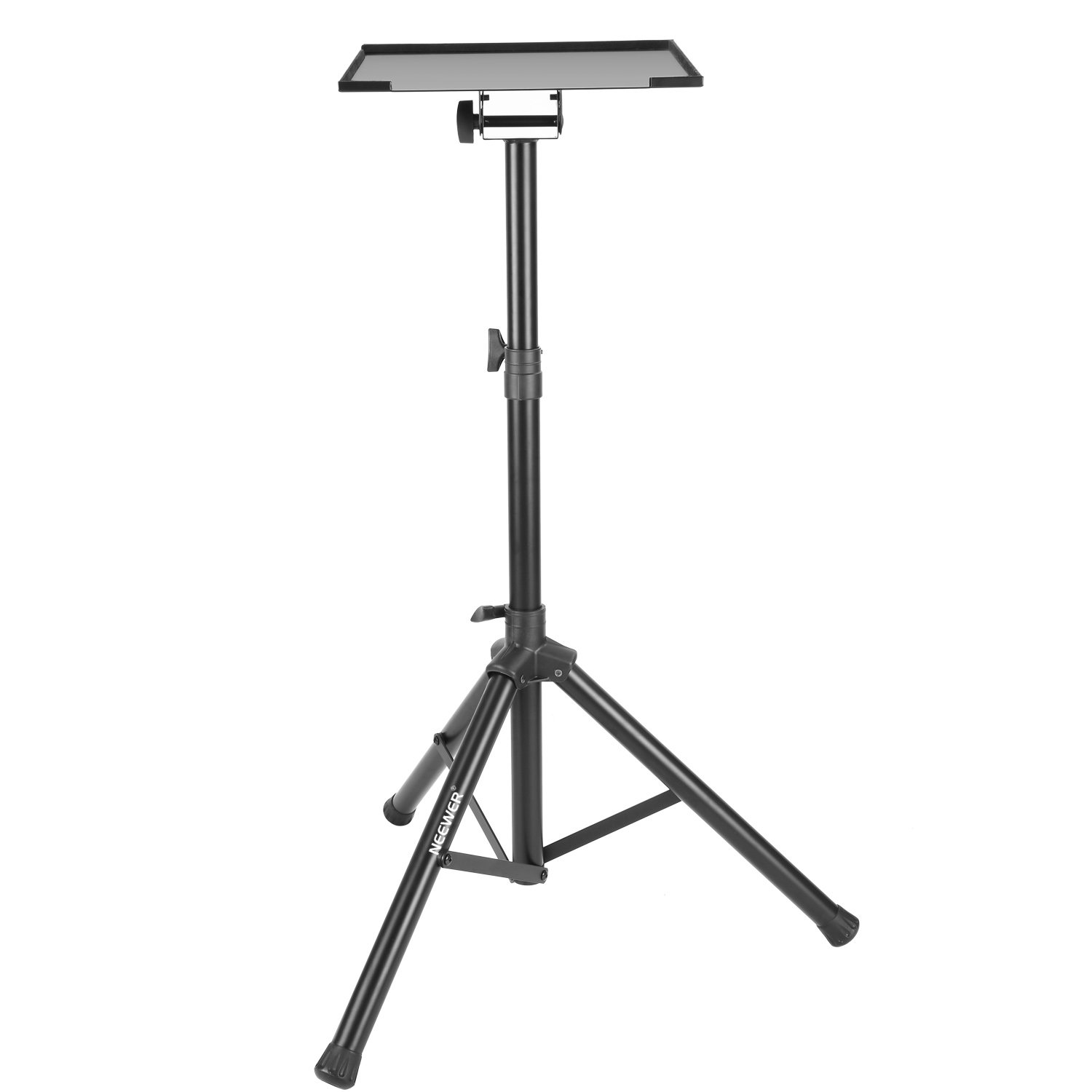 Neewer Deluxe 37.4''-58.7''/95cm-149cm Adjustable and Collapsible Heavy-Duty Laptop Stand with Solid Tripod Base and Non-slip Rubber Caps, Black