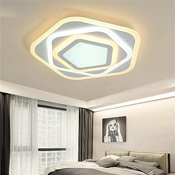 Acryl LED Deckenleuchte Dimmbar mit Fernbedienung LED Deckenlampe ...