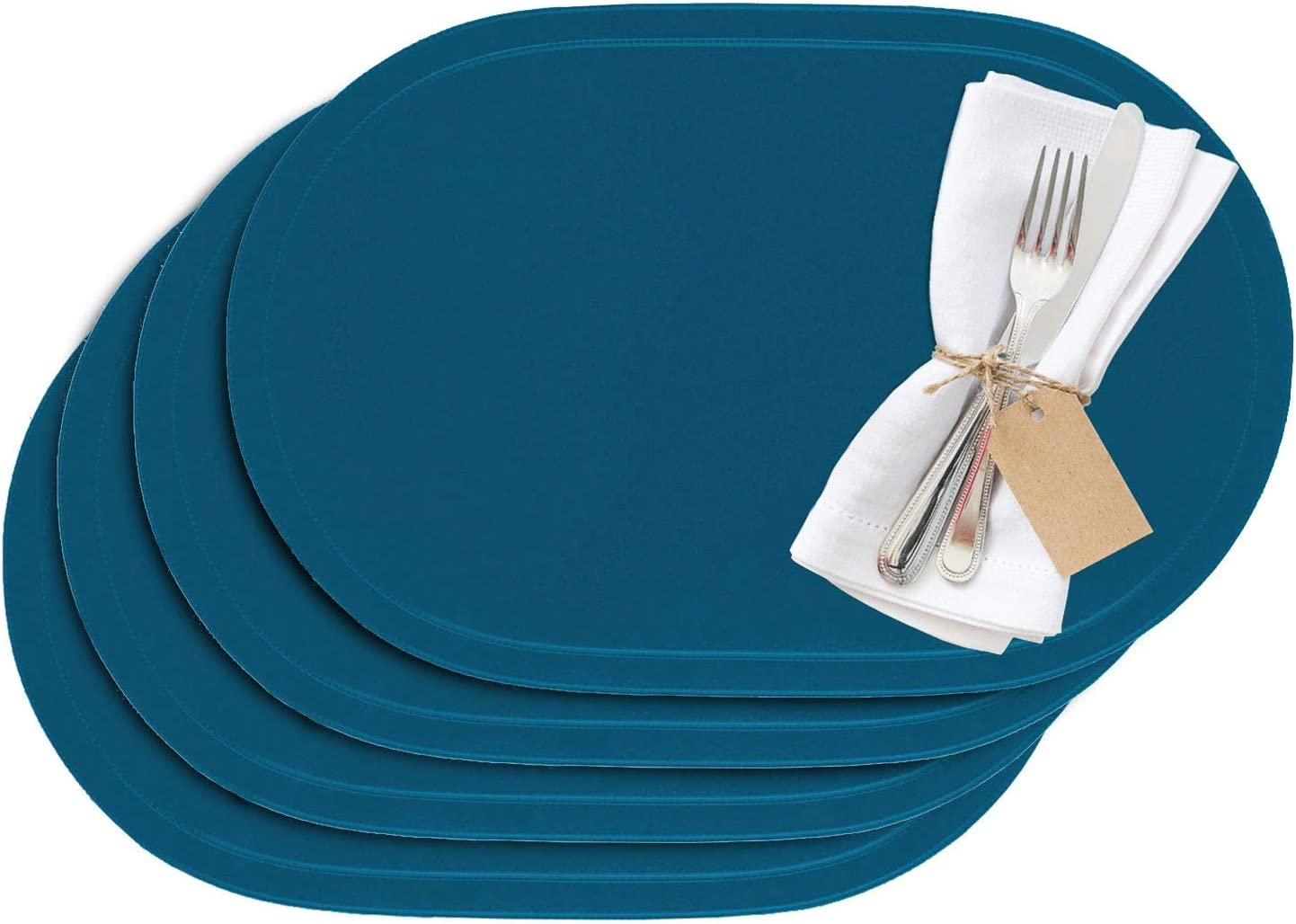 Westmark Sets de table 42 x 32 cm 4 pi/èces Synth/étique /édition Saleen : Home Orange