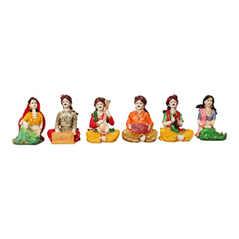 Buy Art N Hub Multicolour Set Of 6 Rajasthani Handicrafts Showpiece