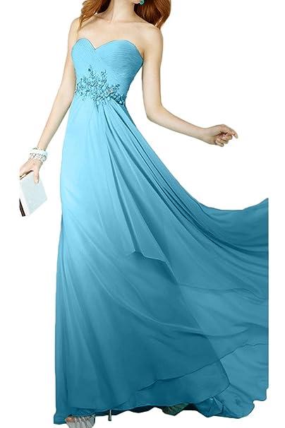 missd ressy elegante gasa largo forma de corazón Traeger los Vestidos de noche de arrugas fijo