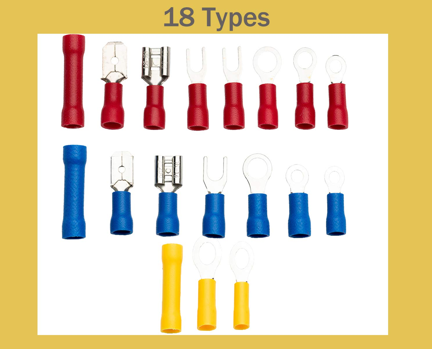 1200PCS Wire Connectors Insulated Electrical Wire Terminals Elibbren Insulated Wiring Terminals Crimp Connector Terminal Assortment Kit for Automotive by Elibbren (Image #5)