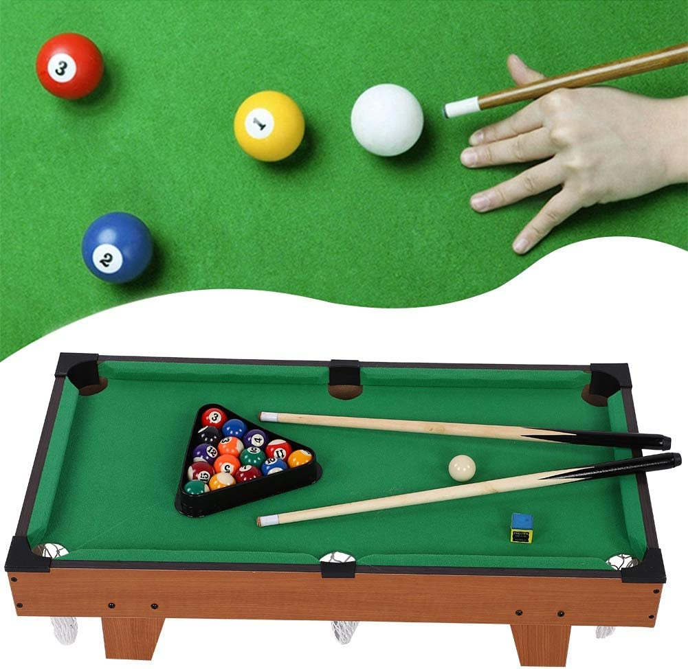 lahomie Mini Mesa de Billar para Niños, Billiards Table Set ...