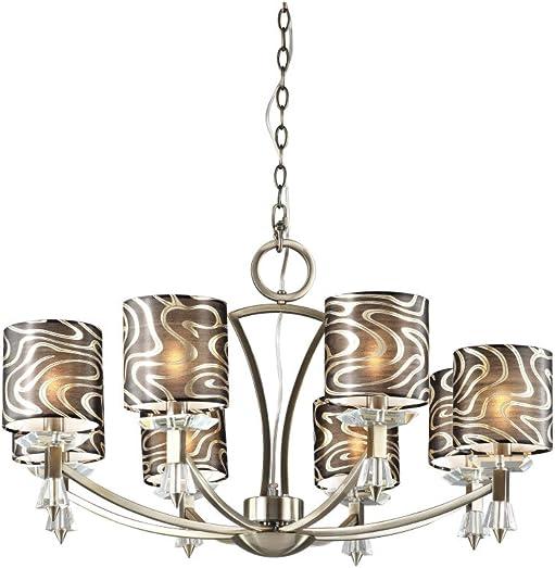 Retro 8 Light Chandelier Finish Antique Brass