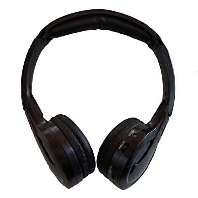 TOPXCEGUU A10 IR Wireless Headphones for Car DVD Player Headrest Video,On-Ear Infrared Headphones Headset Universal (Black): Automotive