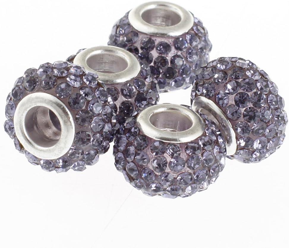 RUBYCA - Cuentas de cristal checo para pulsera (10 unidades, morado, 11 mm)