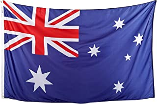 product image for Annin Flagmakers Model 190402 Australia Flag Nylon SolarGuard NYL-Glo, 5x8 ft, 100% Made in USA to Official United Nations Design Specifications