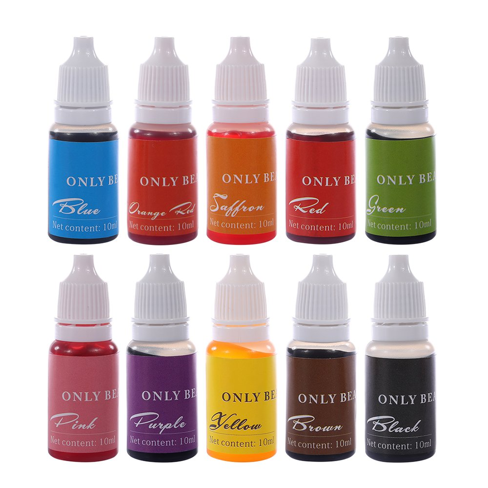 Soap Dye 10 Color Skin Safe Food Grade Liquid Colorant for DIY ...